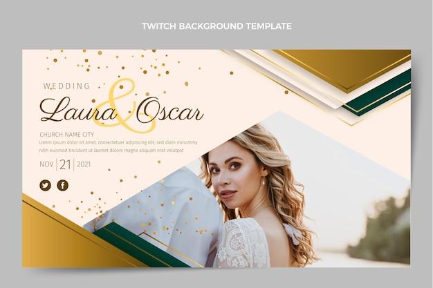Realistische luxe bruiloft twitch achtergrond