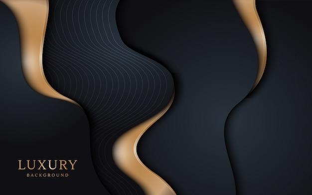 Realistische luxe golvende vormen achtergrond.