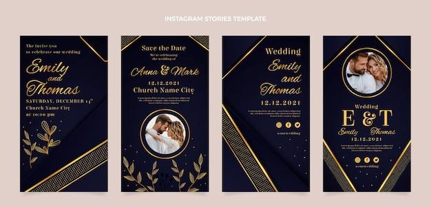Realistische luxe gouden bruiloft ig