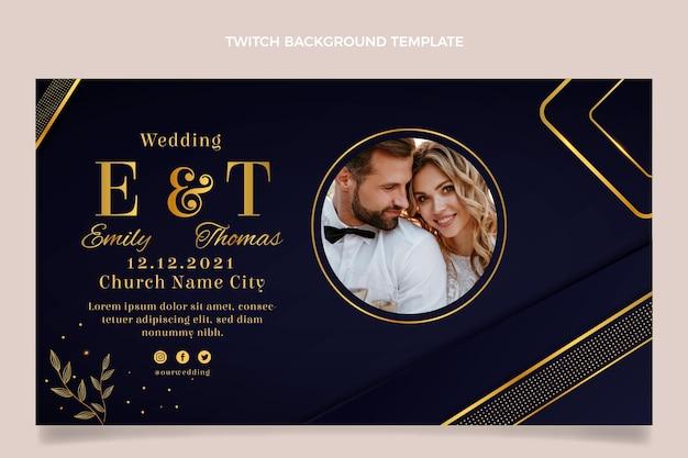 Realistische luxe gouden bruiloft twitch achtergrond