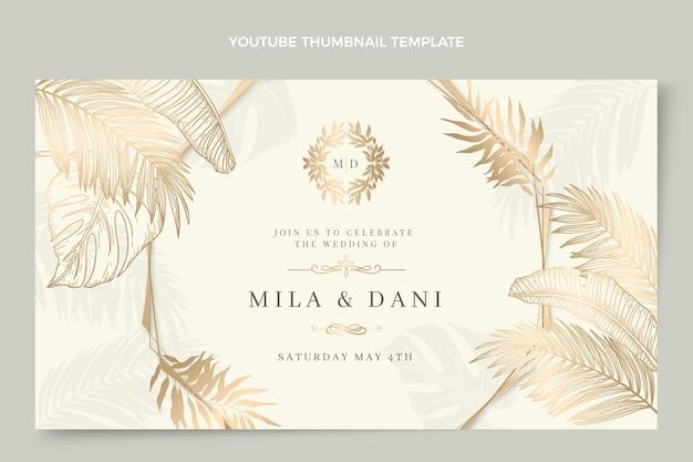 Realistische luxe gouden bruiloft youtube thumbnail