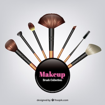 Realistische make-up borstelcollectie