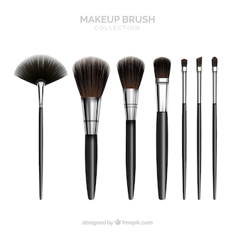 Realistische make-up borstelcollectie