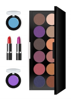Realistische make-up cosmetica set
