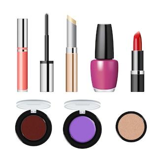 Realistische make-up cosmetica set