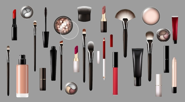 Realistische make-up producten collectie
