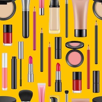 Realistische make-upachtergrond