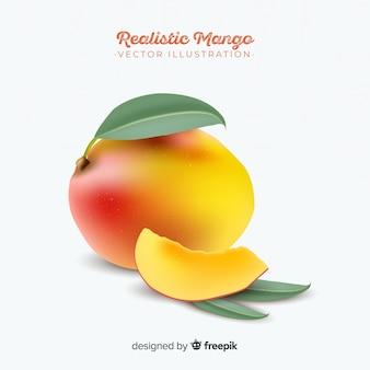 Realistische mango achtergrond