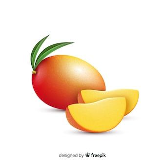 Realistische mangoillustratie