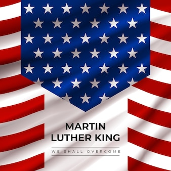 Realistische martin luther king-dag