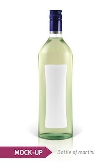 Realistische martini-fles of andere vermoutfles