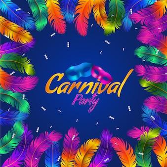 Realistische maskers carnaval behang