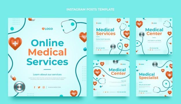 Realistische medische ig-post