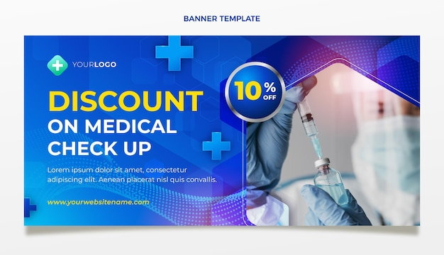 Realistische medische verkoopbanner