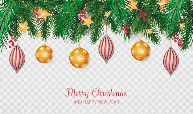 Realistische merry christmas-achtergrond