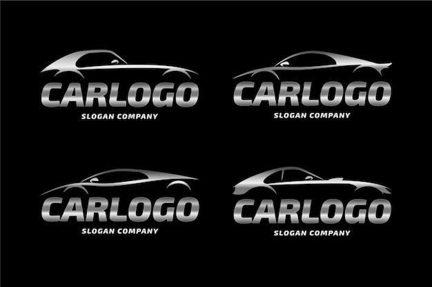 Realistische metalen auto logo concept