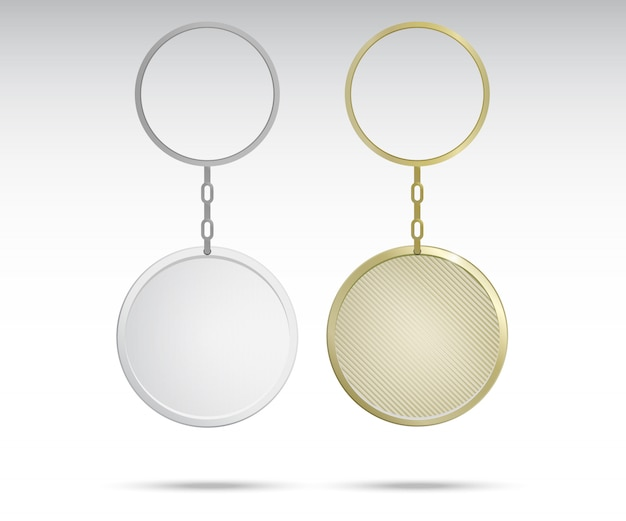 Realistische metalen en kunststof sleutelhangers