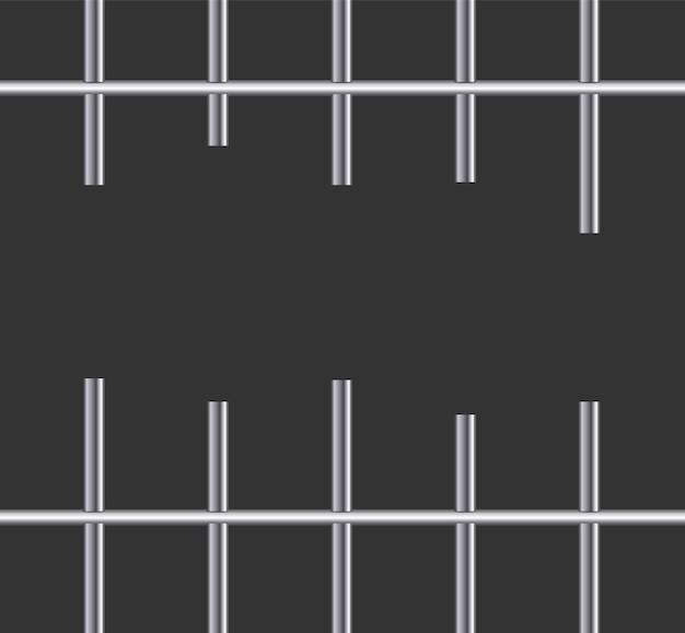 Realistische metalen gevangenisroosters