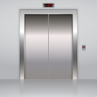 Realistische metalen liftliftdeuren
