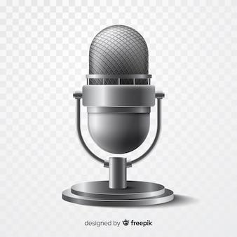 Realistische metalen microfoon voor zingen