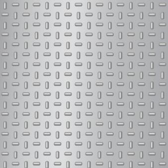 Realistische metalen plaat van diamantstaal. industriële vloeren raster textuur achtergrond. aluminium metallic patroon voor industrieconcept. naadloze patroon.
