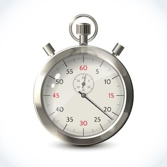 Realistische metalen stopwatch