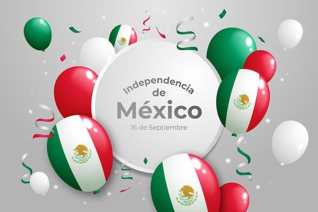 Realistische mexicaanse onafhankelijkheidsdag achtergrond