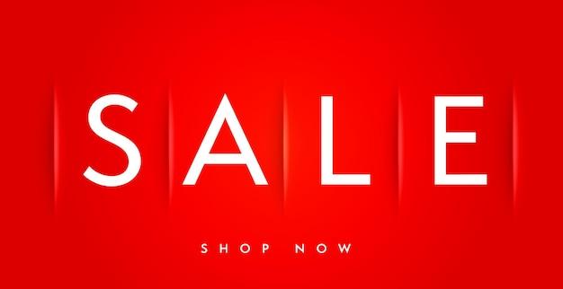 Realistische minimale verkoopbannersjabloon met winkel nu aanbieding. shopping-campagnepromotie en marketingadvertentie. webbanner, poster, plakkaat, billboard of sticker ontwerp vectorillustratie