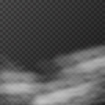 Realistische mist of rook op transparant