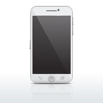 Realistische mobiele telefoon, smartphonemalplaatje, mockup met leeg scherm