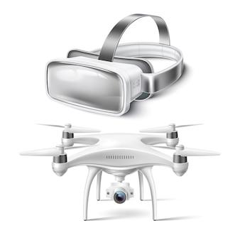 Realistische mockup voor virtual reality-headset