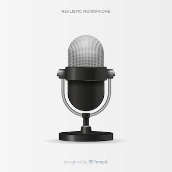 Realistische moderne microfoon