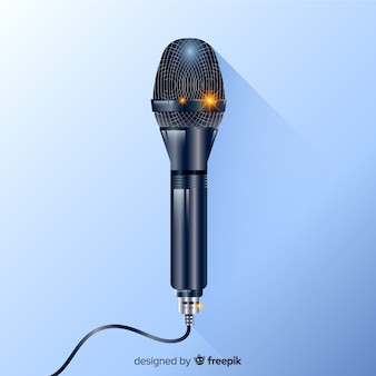 Realistische moderne microfoonachtergrond