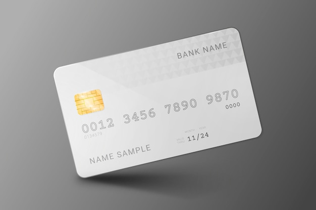 Realistische monochromatische creditcard