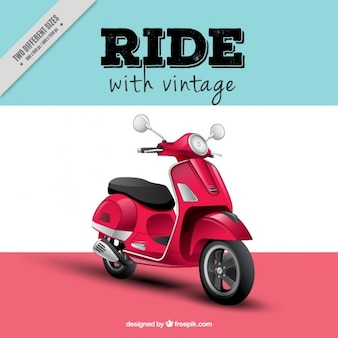 Realistische motor-scooter achtergrond