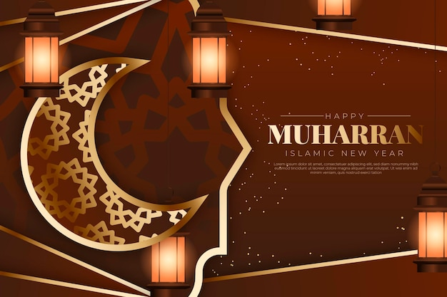Realistische muharram-illustratie