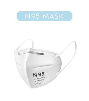 Realistische n95 gezichtsmaskerillustratie op witte achtergrond. ziekenhuis of vervuiling beschermen gezichtsmaskers