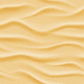 Realistische naadloze vector strand zee zand achtergrond