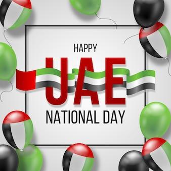 Realistische nationale feestdag van de verenigde arabische emiraten