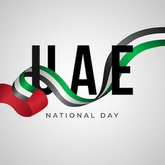 Realistische nationale feestdag van de verenigde arabische emiraten Gratis Vector