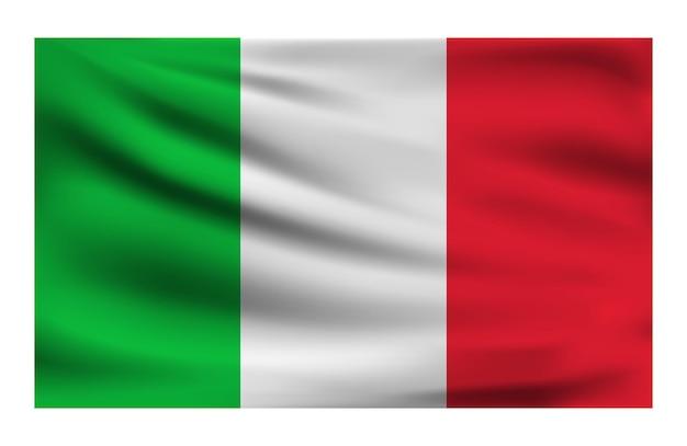 Realistische nationale vlag van italië