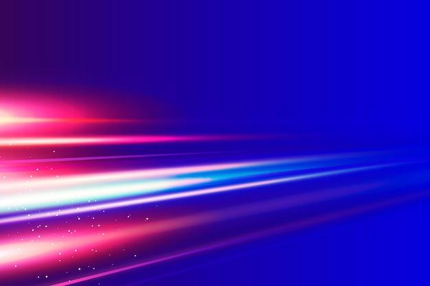 Realistische neon snelheid bewegingsachtergrond