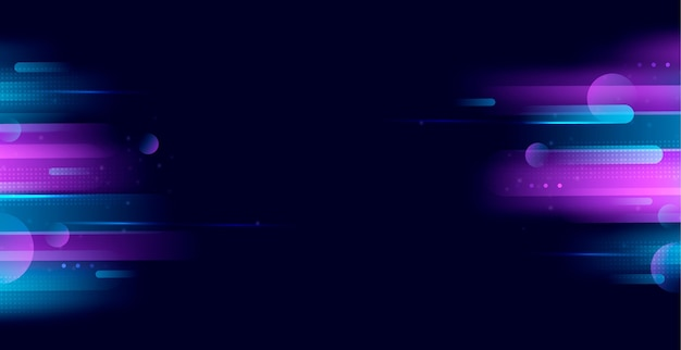 Realistische neonlichten achtergrond