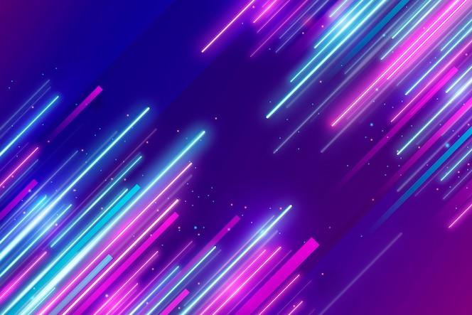 Realistische neonlichtenachtergrond