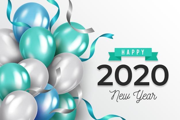 Realistische nieuwe jaar 2020-achtergrond