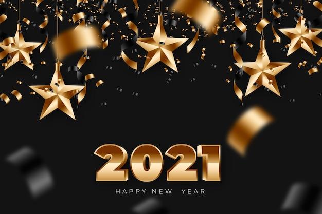 Realistische nieuwe jaar 2021 achtergrond