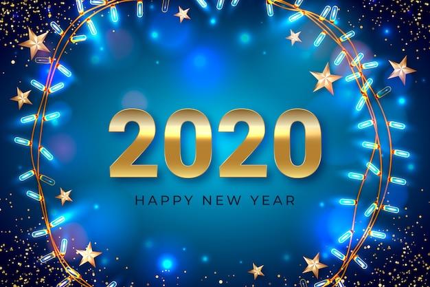 Realistische nieuwe jaarachtergrond