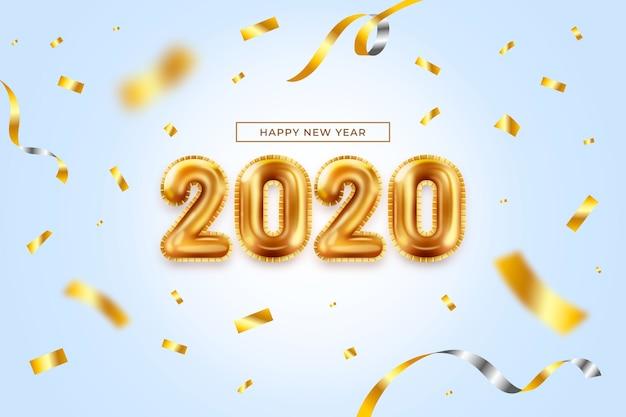Realistische nieuwjaar ballonnen achtergrond