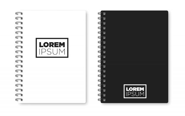 Realistische notebook mock-up voor uw afbeelding.