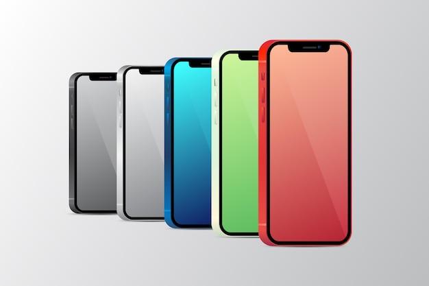 Realistische officiële kleuren van de smartphone